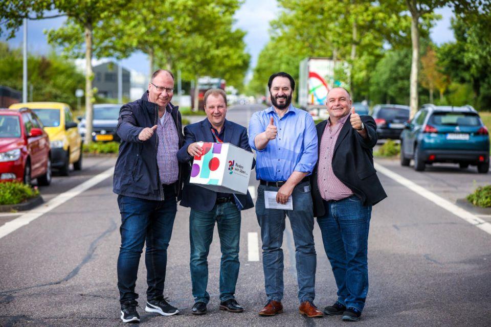 Stefan Strohm, Andreas Clemens, Jürgen Keipinger und Gerd Willems vom Betriebsräte-Arbeitskreis Trier-Monaise