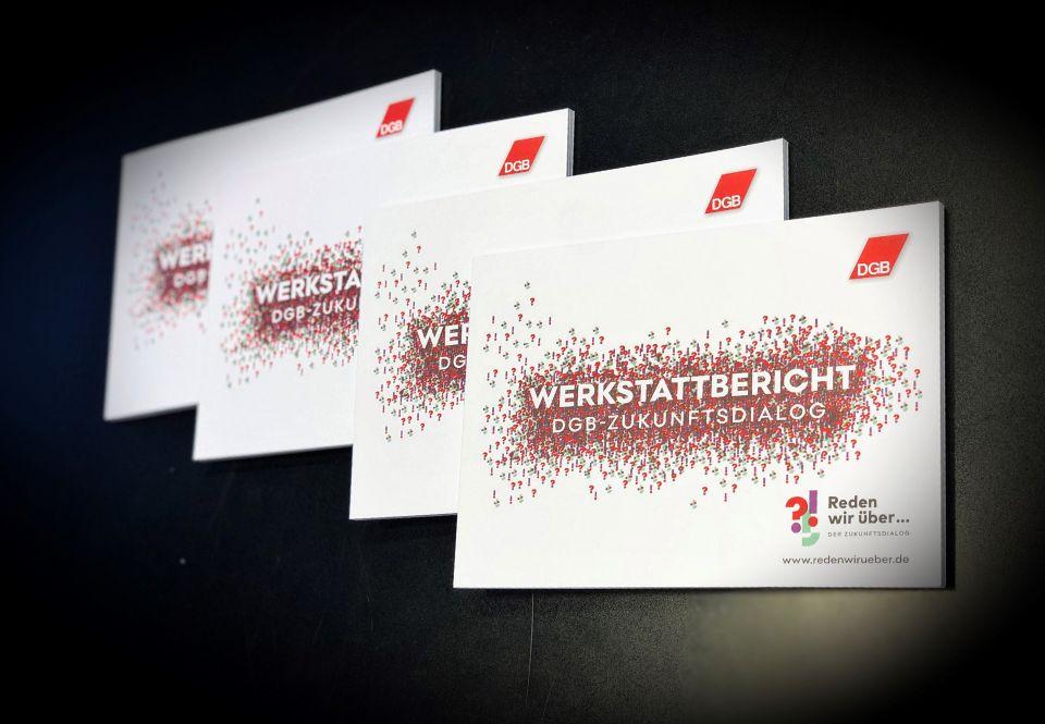 Werkstattbericht des DGB-Zukunftsdialogs, das breite Beteiligungsprojekt der Gewerkschaften