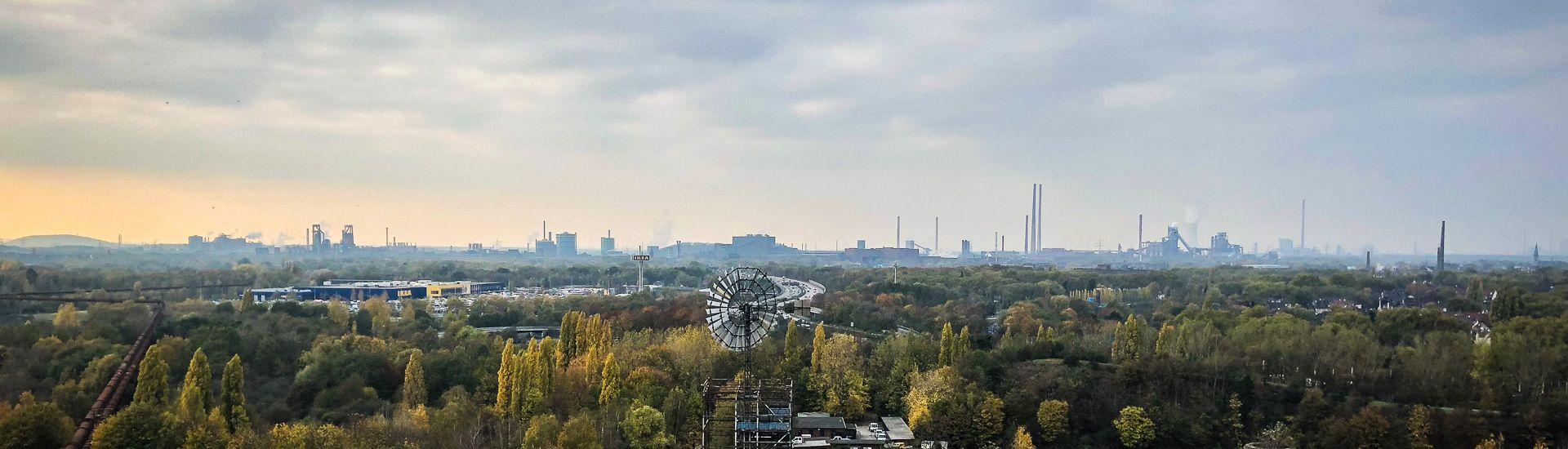 Duisburg im Ruhrgebiet: Eine der Ruhrgebietskommunen die unter Schulden leidet