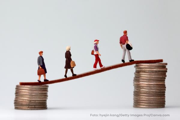 Pay Gap zwischen Ost und West und Mann und Frau