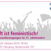 Bilder der Einladung: Die Zukunft ist feministisch!